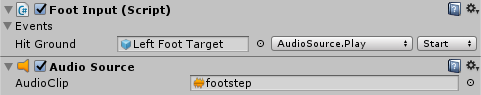 Foot step sounds for a Humanoid